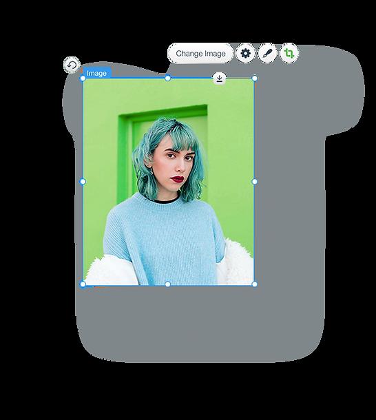 Image d'une femme d'un site de mode, en mode édition.