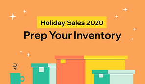 Thumbnail that reads holiday sales 2020, prep your inventory.