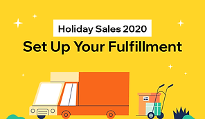 Thumbnail that reads, holiday sales 2020, set up your fulfilment.