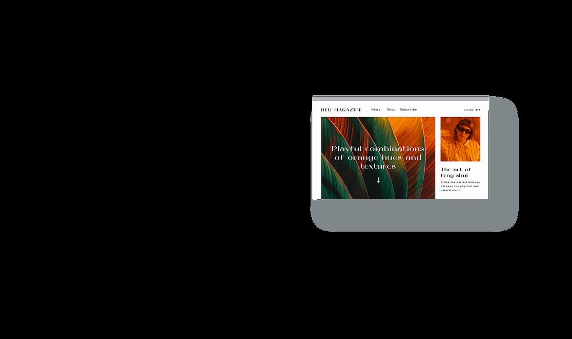 Un site de magazine créé avec la technologie Corvid pour créer un site plus complexe.