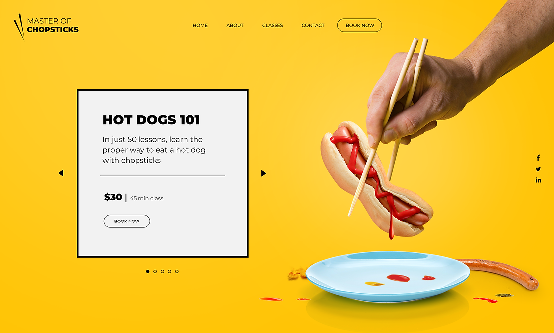 Website Offering Lessons on Using Chopsticks
