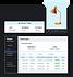 Zahlungstabelle eines Online-Shops für Inneneinrichtung, mit Bewertungen der letzten 7 Tage und orangefarbenem Lampenprodukt.