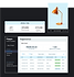 Tabela de pagamentos de uma loja online de decoração, com a revisão dos últimos 7 dias e o produto lâmpada laranja.