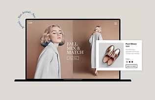 Luxury fashion online store homepage and product page