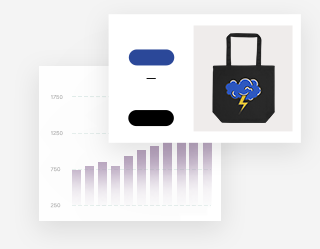 Analytics and profit report for a tote bag sold on a dropshipping online store