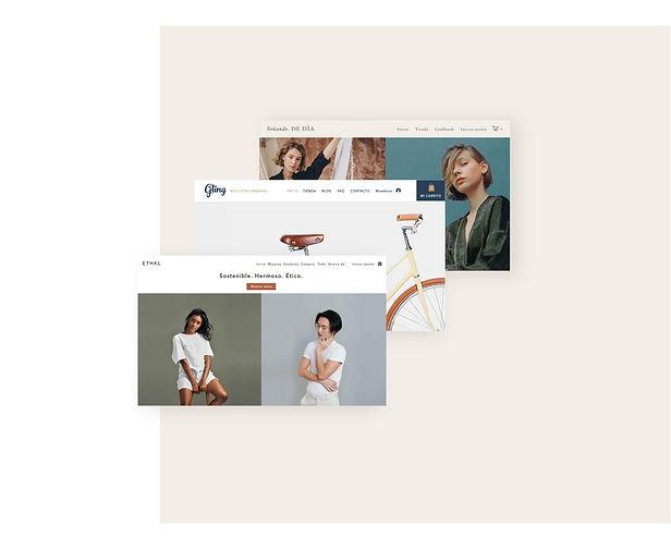 Tiendas profesionales online construidas sobre plantillas de Wix.