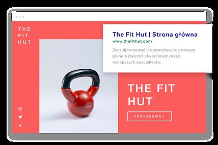 Witryna fitness, niestandardowy adres URL i opis Google