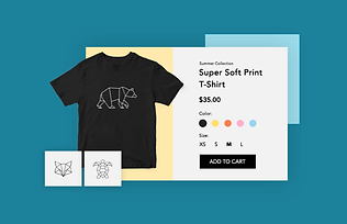 Dropshipping print on demand t-shirt business with a Wix online store