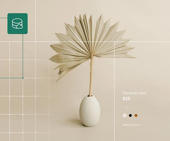 Image of a ceramics store website