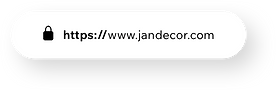 A website address with a security certificate.