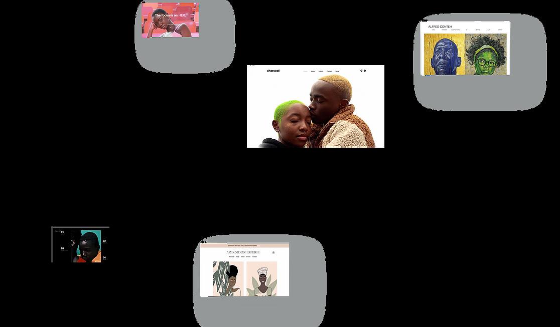 Une variété de sites web créés par des artistes de couleur sur la plateforme Wix, dans le cadre de l'initiative de soutien au mouvement Black Lives Matter.