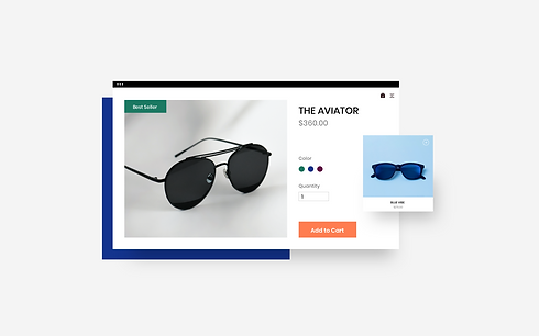Sunglasses website that has resized a product image.