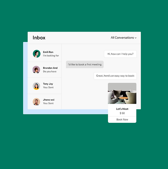 Manage conversations and build customer relationships from your Inbox.