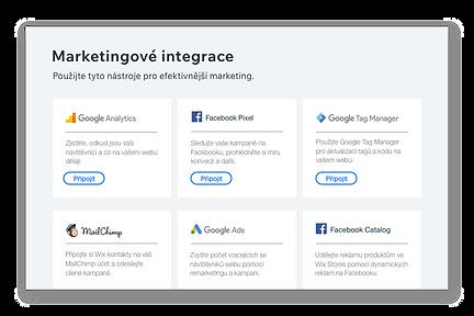 Ikony a popis šesti oblíbených marketingových nástrojů.