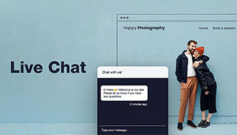 Use Live Chat to engage site visitors and answer their questions.