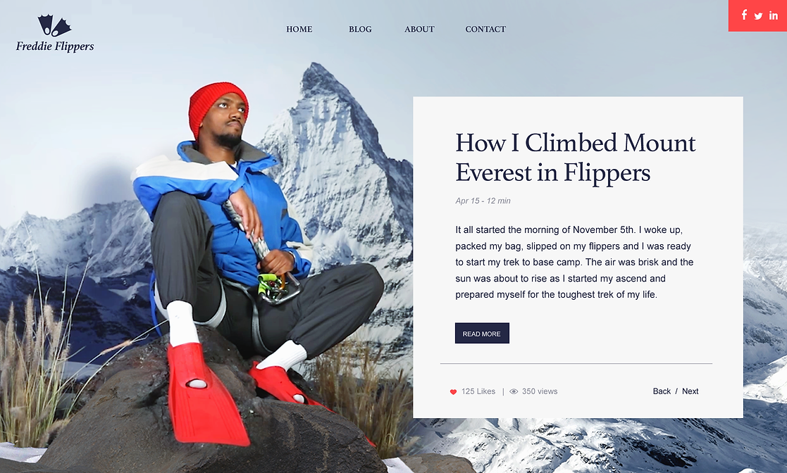 A Blog About Hiking in Flippers