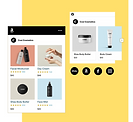 Online store selling cosmetics with products for sale on Amazon and Facebook.