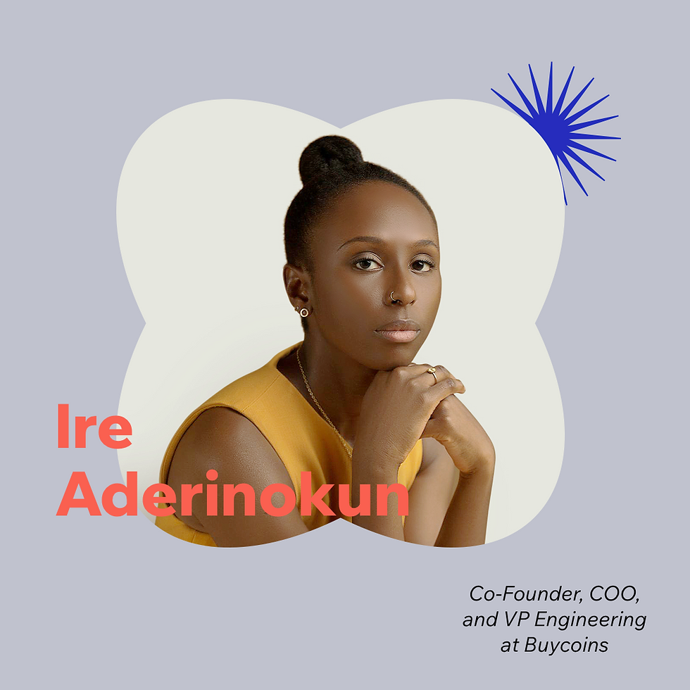 Now What? podcast S1E4 with guest Ire Aderinokun, Co-Founder, COO and VP Engineering of Buycoins