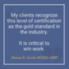 NCIDQ Quote Marian Jacobs