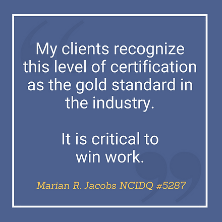 NCIDQ Quote Marian Jacobs