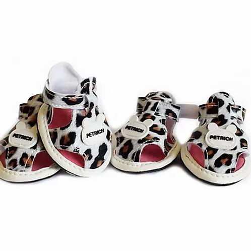 XS Leopard Print Booties/Sandles