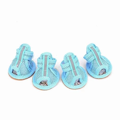 Blue Mesh Sandals
