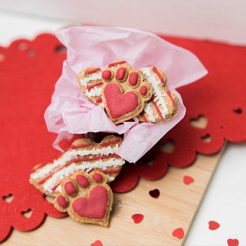 Valentines Heart Paws Dog Treats