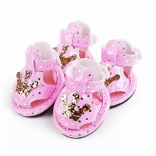 Pink Crown Booties