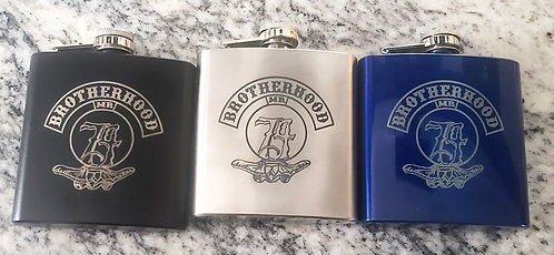 Brotherhood Engraved Flask