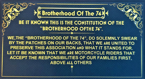 MEMBERS ONLY Constitution Cards