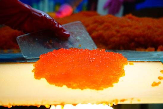 Red fish co caviar and roe