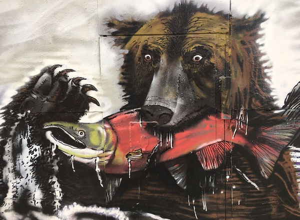 bear and red fish by Red Fish Co., Ltd.