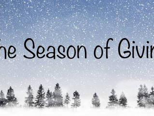Welcome to the Season of Giving!!