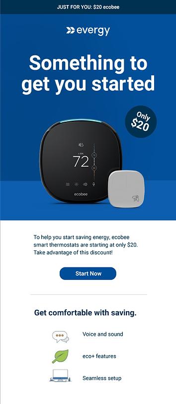 Evergy Ecobee Thermostat Mockup