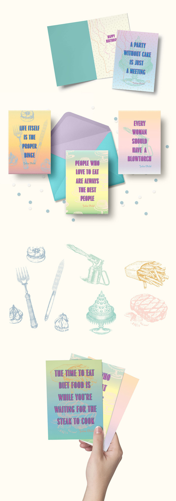 Julia Child Greeting Cards