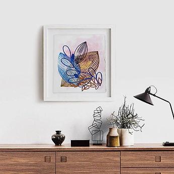 framed collage interior design