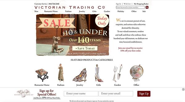 Screenshot of website design