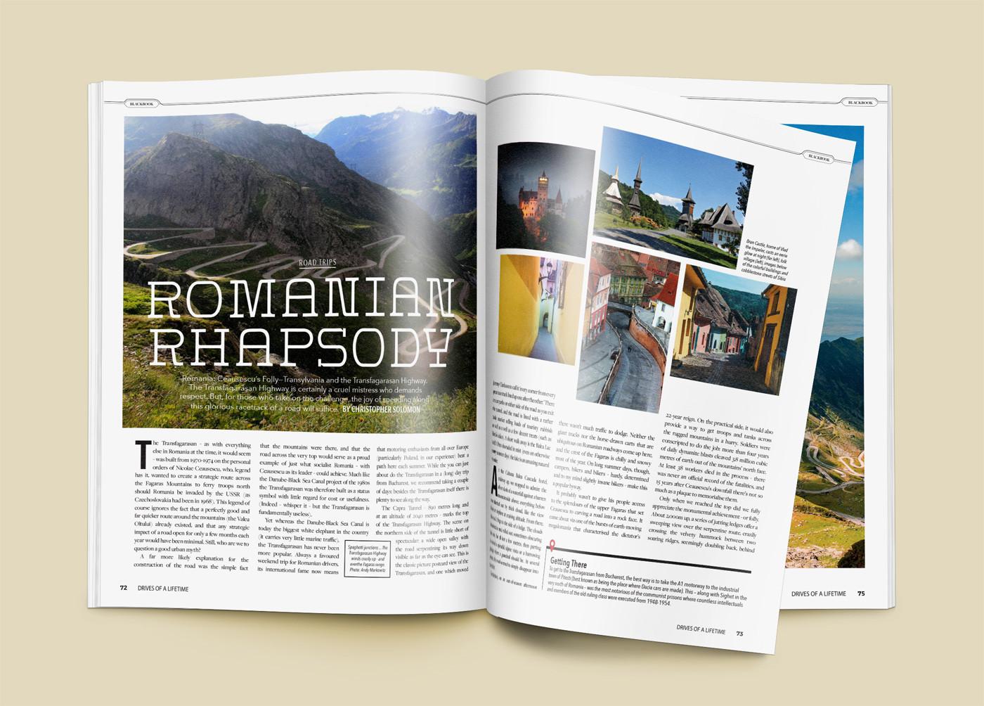 Traveler Magazine Spreads