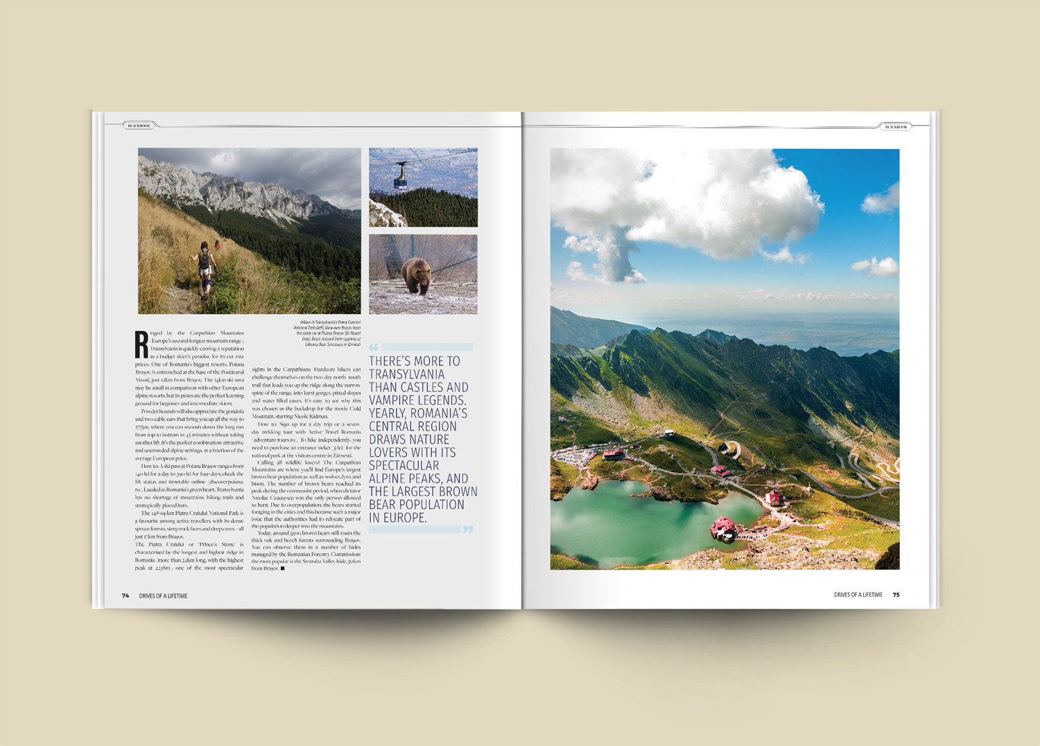 Traveler Magazine Spreads