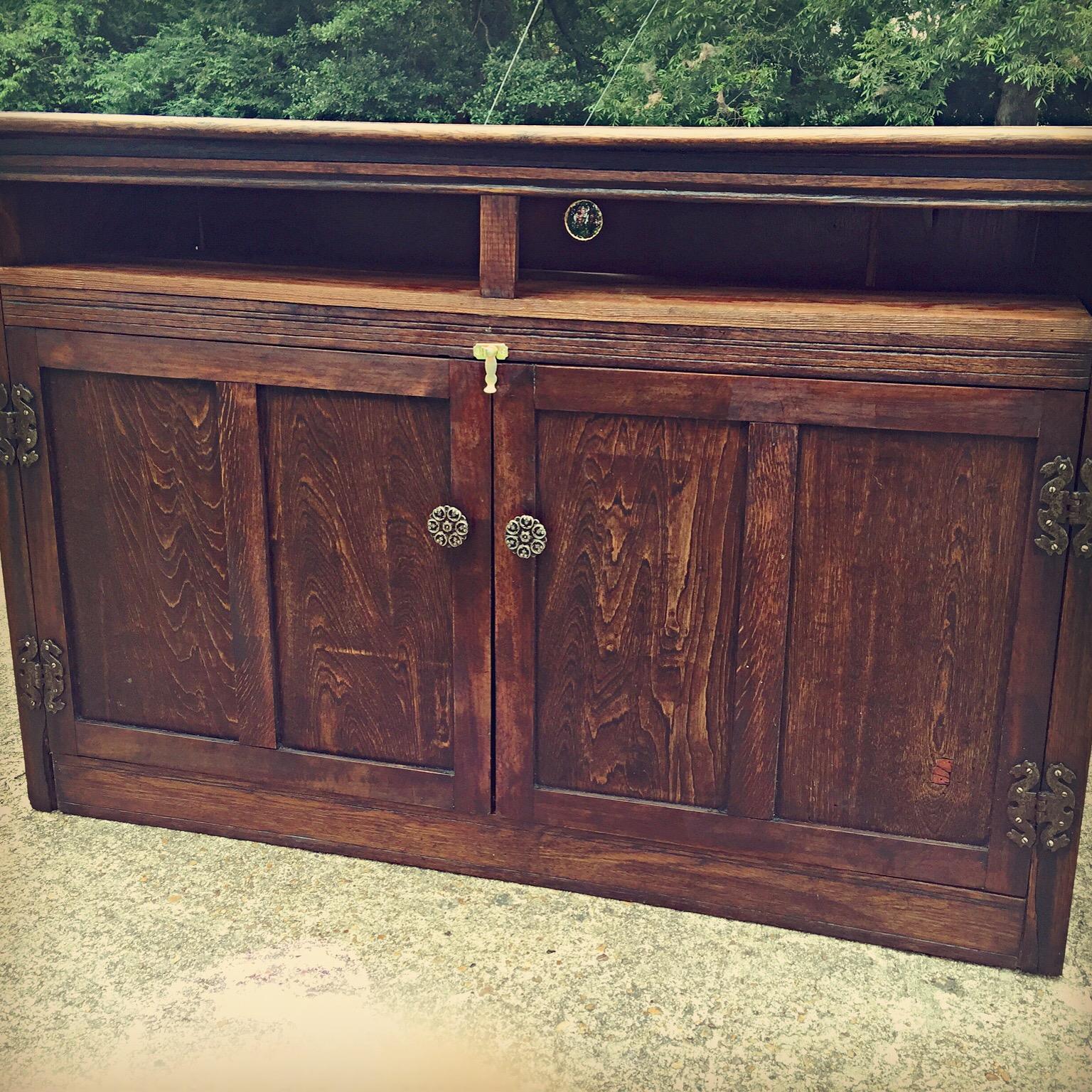 Antiqued Cabinet Restored