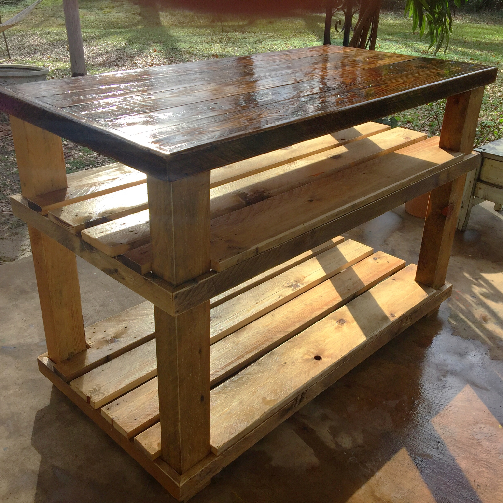 Custom designed patio table