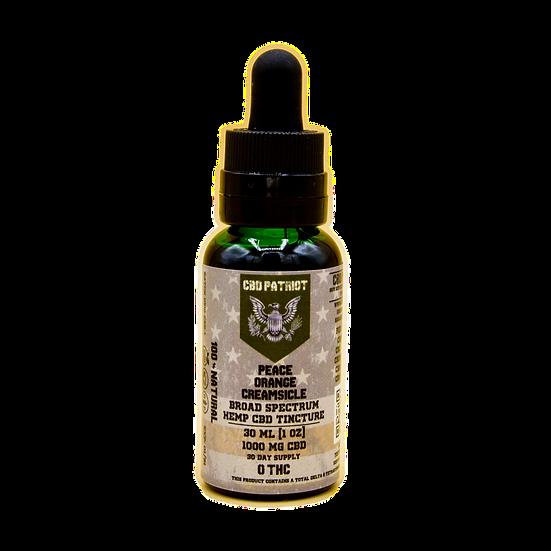 Peace 1000 mg CBD Tincture - Orange Creamsicle Flavor - 1 oz