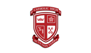 Crest of Catholic High School of New Iberia Louisiana