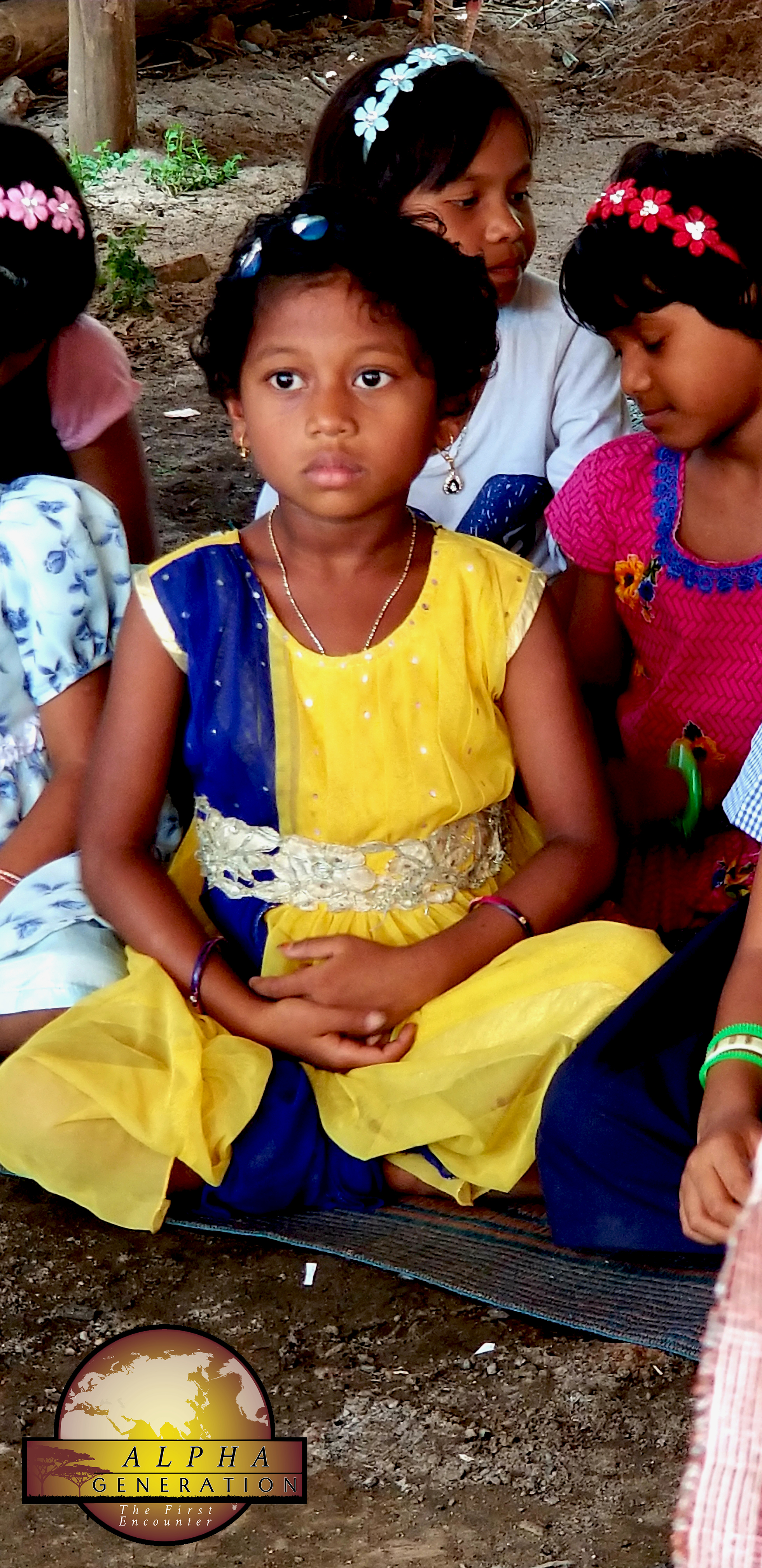 Girl At Church Service in India