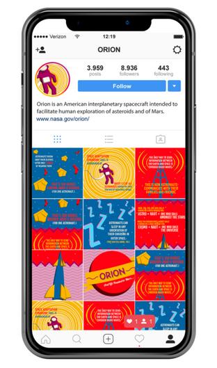 NASA Orion Social Media