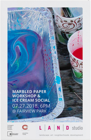 Marbled Paper Workshop Flyer