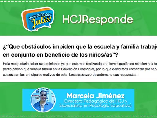 ¿Qué obstáculos impiden que la escuela y familia trabajen en conjunto en beneficio de los niños/as?