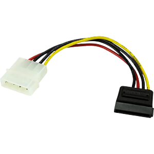 6in 4 Pin Molex to SATA Power Cable Adapter