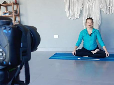 Dia de gravação: Yoga Shala