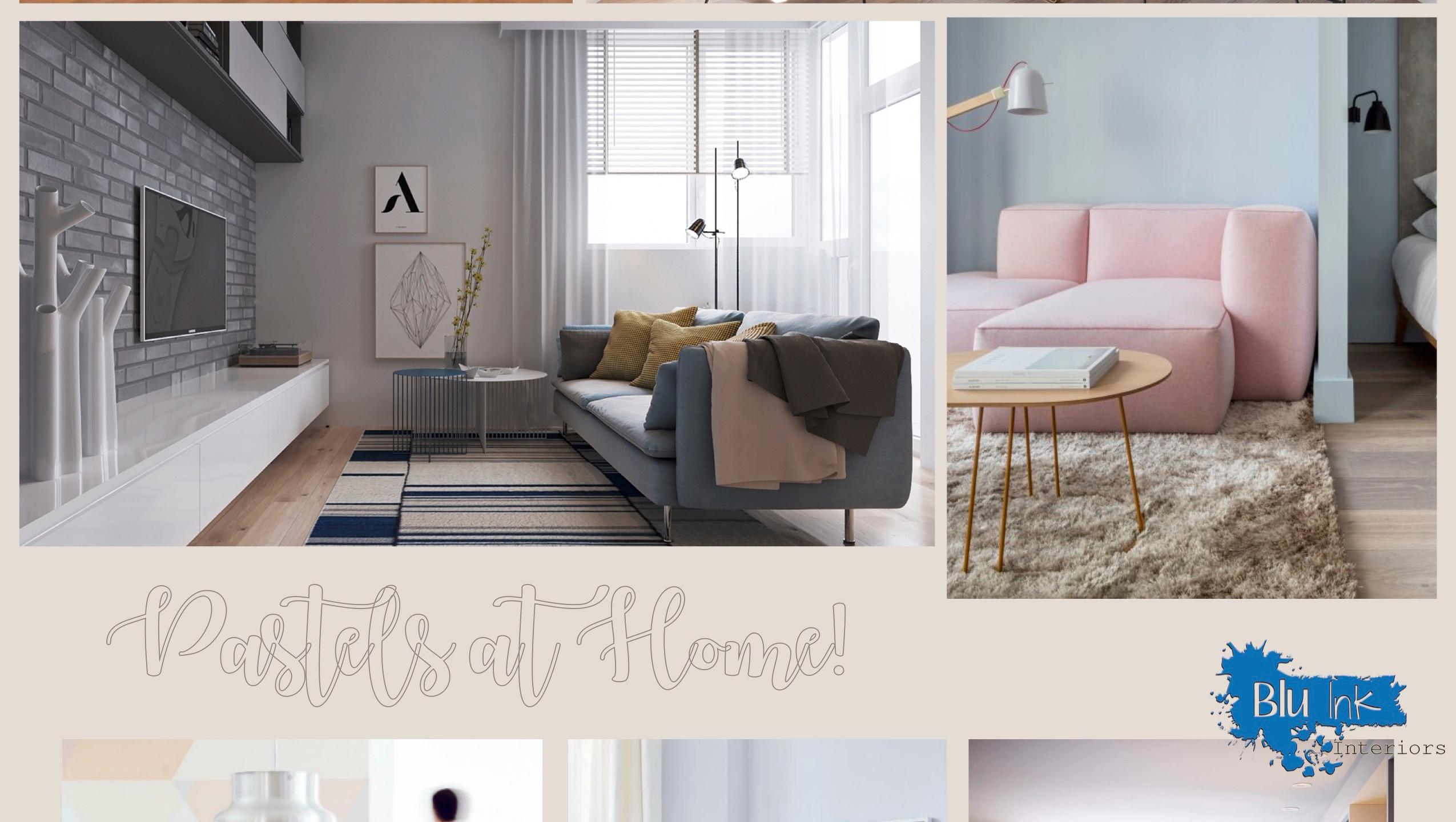 Blu Ink Interiors Pastels at Home
